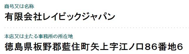 レイビックジャパン